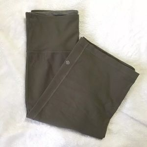 LULULEMON Olive Yoga Workout Pants Wide Leg Flare